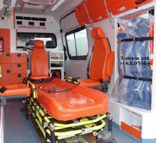 Ambulanslarda sabitleyici araç ve gereçler