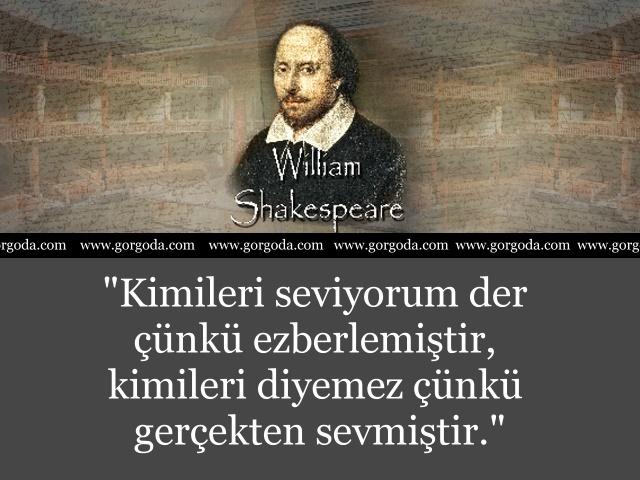 William Shakespeare Söylediği Sözler