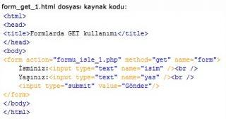 form get html
