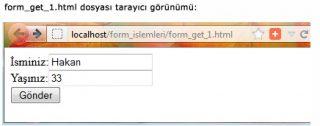 form get html tarayıcı görünümü