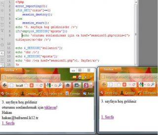 PHP'de Session (Oturum Yönetimi)