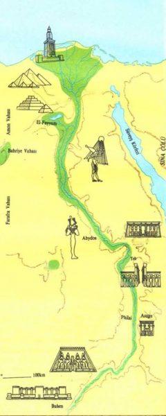 Mısır Nil Nehri Haritası