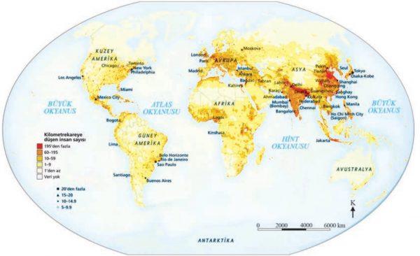 Dünya nüfus yoğunluğu