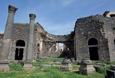 Tarihî Busra şehrinin kalıntıları
